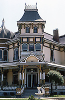 Redlands CA: Morey House, 140 Terracina, 1890. Architect unknown.  Beautifully restored and now  (1987) a Bed & Breakfast. Photo '87.