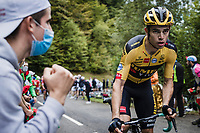 Wout van Aert (BEL/Jumbo-Visma) up the Col de Marie Blanque<br /> <br /> Stage 9 from Pau to Laruns 153km<br /> 107th Tour de France 2020 (2.UWT)<br /> (the 'postponed edition' held in september)<br /> ©kramon