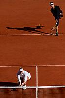 11th October 2020, Roland Garros, Paris, France; French Open tennis, Womens Doubles final 2020; Timea BabHun and Kristina Mladenovic Fra  versus Alexa Guarachi Chi and Desirae Krawczyk USA