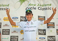 U23 leader Logan Griffin (Oliver's Real Food Racing) after stage four of the NZ Cycle Classic UCI Oceania Tour in Wairarapa, New Zealand on Wednesday, 25 January 2017. Photo: Dave Lintott / lintottphoto.co.nz
