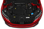 Car Stock 2020 Skoda Karoq Sport-Line 5 Door SUV Engine  high angle detail view