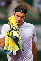 02-06-13, Tennis, France, Paris, Roland Garros,  Roger Federer