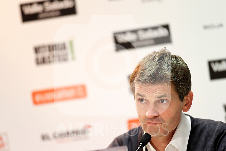 FC Barcelona's coach Tito Vilanova in press conference after Spanish King's Cup match.October 30,2012. (ALTERPHOTOS/Acero)
