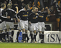 11/02/2008    Copyright Pic: James Stewart.File Name : sct_jspa10_motherwell_v_dundee.PAUL MCHALE (2ND RIGHT) IS CONGRATULATED AFTER HE SCORES DUNDEE'S FIRST.James Stewart Photo Agency 19 Carronlea Drive, Falkirk. FK2 8DN      Vat Reg No. 607 6932 25.Studio      : +44 (0)1324 611191 .Mobile      : +44 (0)7721 416997.E-mail  :  jim@jspa.co.uk.If you require further information then contact Jim Stewart on any of the numbers above........