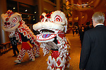 Lion dancers lead the guests into the Asia Society Gala at the InterContinental Houston Hotel Thursday Feb. 26, 2009.(Dave Rossman/For the Chronicle)