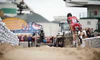 race leader Kevin Pauwels (BEL/Sunweb-Napoleon Games) flying over the sand<br /> <br /> Jaarmarktcross Niel 2015  Elite Men & U23 race