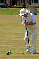 Playing Croquet in Government Gardens, Rotorua, north island, New Zealand.