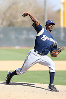 Nick Tyson, Milwaukee Brewers 2010 minor league spring training..Photo by:  Bill Mitchell/Four Seam Images.