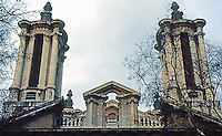 London: Thomas Archer's St. John, Baroque Towers, 1714-28. Smith Square, Westminster.
