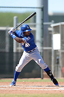 Kansas City Royals outfielder Brawlun Gomez (41) during an instructional league game against the Seattle Mariners on October 2, 2013 at Surprise Stadium Training Complex in Surprise, Arizona.  (Mike Janes/Four Seam Images)