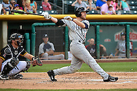 Roger Kieschnick (29) of the Reno Aces at bat against the Salt Lake Bees in Pacific Coast League action at Smith's Ballpark on July 23, 2014 in Salt Lake City, Utah.  (Stephen Smith/Four Seam Images)