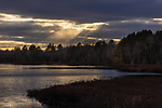 Sunrays over Little Clam Lake in northern Wisconsin.