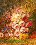 Paeonia by Felix Ziem (1821-1911)