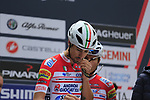 Androni Giocattoli-Sidermec at sign on before the start of the 99th edition of Milan-Turin 2018, running 200km from Magenta Milan to Superga Basilica Turin, Italy. 10th October 2018.<br /> Picture: Eoin Clarke | Cyclefile<br /> <br /> <br /> All photos usage must carry mandatory copyright credit (© Cyclefile | Eoin Clarke)