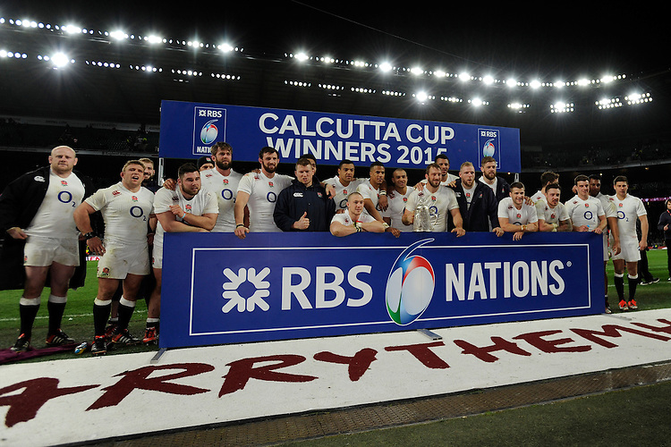 England celebrate winning the Calcutta Cup