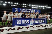 England celebrate winning the Calcutta Cup