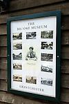 Granchester Cambridgeshire UK The Rupert Brooke Museum sign.