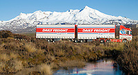 Daily Freight truck on the Desert Road, NZ
