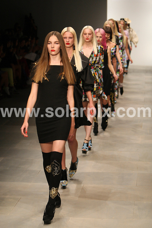 **ALL ROUND PICTURES FROM SOLARPIX.COM** **WORLDWIDE SYNDICATION RIGHTS** .London Fashion Week PPQ Runway 2012 at Somerset House in London on 16 September 2011.This pic:    PPQ Runway .JOB REF:     13964     MLW     DATE: 17.09.11 .**MUST CREDIT SOLARPIX.COM OR DOUBLE FEE WILL BE CHARGED** **MUST AGREE FEE BEFORE ONLINE USAGE** **CALL US ON: +34 952 811 768 or LOW RATE FROM UK 0844 617 7637**.