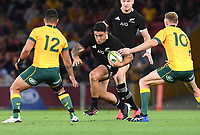 7th November 2020, Brisbane, Australia; Tri Nations International rugby union, Australia versus New Zealand;  Codie Taylor of the All Blacks in action