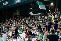 28th August 2021; Benito Villamarín Stadium, Seville, Spain, Spanish La Liga Football, Real Betis versus Real Madrid; Betis fans support their team