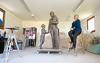 BNPS.co.uk (01202) 558833<br /> Pic: CorinMesser/BNPS<br /> <br /> This is the finished model of an unsung British hero who saved hundreds of children destined for Nazi concentration camps.<br /> <br /> Trevor Chadwick, nicknamed the 'Purbeck Schindler', helped Sir Nicholas Winton rescue 669 Jewish children from Czechoslovakia before the Second World War.<br /> <br /> But his brave actions were not revealed until more than 50 years after the war.<br /> <br /> Sculptor Moira Purver was tasked with making a life-size statue to honour his efforts that will be displayed in his hometown of Swanage, Dorset.