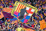 Fans of FC Barcelona wave flags and show their supports prior to the La Liga 2017-18 match between FC Barcelona and Real Madrid at Camp Nou on May 06 2018 in Barcelona, Spain. Photo by Vicens Gimenez / Power Sport Images