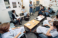 Nurses staff meeting to discuss patient notes. This image may only be used to portray the subject in a positive manner..©shoutpictures.com..john@shoutpictures.com
