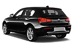 Car pictures of rear three quarter view of 2017 BMW 1-Series Sport 5 Door Hatchback angular rear
