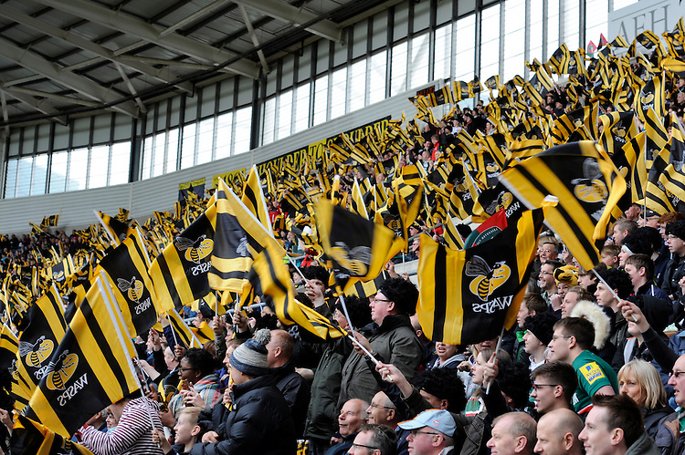 Wasps fans enjoying the atmosphere at the Ricoh Arena