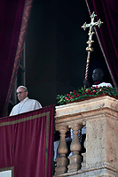 Pope Francis Urbi et Orbi Christmas Day of St. Peter's Basilica in Vatican ,25 December 2017
