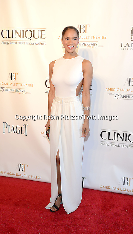 Misty Copeland attends the Opening Night of American Ballet Theatre 2014 Fall Gala on October 22,2014 at the David Koch Theater at Lincoln Center in New York City. <br /> <br /> photo by Robin Platzer/Twin Images<br />  <br /> phone number 212-935-0770