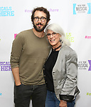 """Josh Groban and Jamie deRoy backstage at the New York Musical Festival production of  """"Alive! The Zombie Musical"""" at the Alice Griffin Jewel Box Theatre on July 29, 2019 in New York City."""