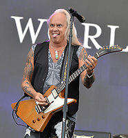 FORT LAUDERDALE, FL - APRIL 16: Rickey Medlocke of Lynyrd Skynyrd performs onstage during Tortuga Music Festival on April 16, 2016 in Fort Lauderdale, Florida.<br /> <br /> People:  Rickey Medlocke<br /> <br /> Transmission Ref:  FLXX<br /> <br /> Must call if interested<br /> Michael Storms<br /> Storms Media Group Inc.<br /> 305-632-3400 - Cell<br /> 305-513-5783 - Fax<br /> MikeStorm@aol.com<br /> www.StormsMediaGroup.com