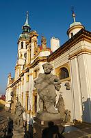 church, Prague, Castle,  Baroque,  Architecture,  Czech, Our Lady of Lorette church