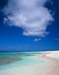 Anguilla, BWI<br /> Waves gently wash the white sand beach of Shoal Bay East on the northeast part of the island