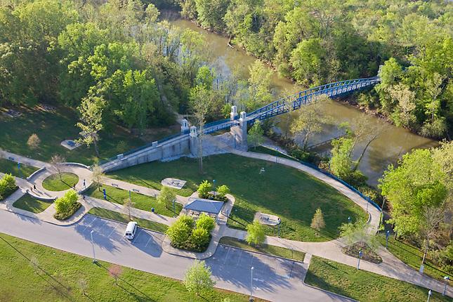 Walking bridge over South Chickamauga Creek