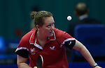 Glasgow 2014 Commonwealth Games<br /> Naomi Owen (wales) in action against Anolyn Lulu from (Vanuatu).<br /> Scotstoun Table Tennis<br /> <br /> 25.07.14<br /> ©Steve Pope-SPORTINGWALES