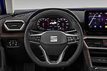 Car pictures of steering wheel view of a 2020 Seat Leon Xcellence 5 Door Wagon Steering Wheel