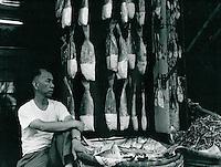 Fischhändler in Macao 1977