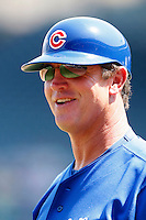 August 9, 2009:  Manager Bobby Dickerson of the Iowa Cubs during a game at Wrigley Field in Chicago, IL.  Iowa is the Pacific Coast League Triple-A affiliate of the Chicago Cubs.  Photo By Mike Janes/Four Seam Images