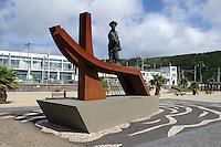 Strand von Praia da Vitoria auf der Insel Terceira, Azoren, Portugal