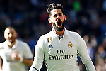 Real Madrid's Isco Alarcon celebrates goal during La Liga match. January 7,2016. (ALTERPHOTOS/Acero)