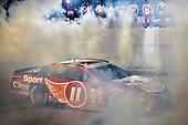 Monster Energy NASCAR Cup Series<br /> Bojangles' Southern 500<br /> Darlington Raceway, Darlington, SC USA<br /> Sunday 3 September 2017<br /> Denny Hamlin, Joe Gibbs Racing, Sport Clips Toyota Camry celebrates his win<br /> World Copyright: Nigel Kinrade<br /> LAT Images