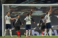 5th January 2021; Tottenham Hotspur Stadium, London, England; English Football League Cup Football, Carabao Cup, Tottenham Hotspur versus Brentford; Ivan Toney of Brentford scores but is rule offside by VAR
