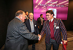 1st XV captain Hayes Okasene receives his jersey from Sir Graham Henry and John Bayley. Kings College 1st XV Jersey Presentation at Bayleys Real Estate Head Office, Viaduct Harbour, Auckland, New Zealand. Wednesday 3 May 2017. Photo: Simon Watts/www.bwmedia.co.nz for Kings College