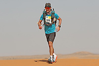 4th October 2021; Tisserdimine to Kourci Dial Zaid;  Marathon des Sables, stage 2 of  a six-day, 251 km ultramarathon, which is approximately the distance of six regular marathons. The longest single stage is 91 km long. This multiday race is held every year in southern Morocco, in the Sahara Desert. Jonathan Nosworthy (GER)