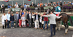 June 5 2015: Cocked and Loaded with Irad Ortiz Jr.  win the 118th running of the The Tremont Stakes, for 2-year olds, going 5 1/2 furlongs at Belmont Park.  Trainer Larry Rivelli. Owner Richard Raven & Patricia's Hope LLC. Sue Kawczynski/ESW/CSM