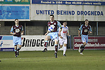 Drog's Alan McNally (4) and Stephen McCrossan (8) as Drogheda Utd V UCD in the Airtricity League. (result UCD 1 Drogheda Utd 0)..(Photo credit should read Jenny Matthews/www.newsfile.ie)....This Picture has been sent you under the conditions enclosed by:.Newsfile Ltd..The Studio,.Millmount Abbey,.Drogheda,.Co Meath..Ireland..Tel: +353(0)41-9871240.Fax: +353(0)41-9871260.GSM: +353(0)86-2500958.email: pictures@newsfile.ie.www.newsfile.ie.