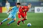 Adelaide United Midfielder Riley Patrick Mcgree (L) in action against Jiangsu FC Midfielder Xie Pengfei (L) during the AFC Champions League 2017 Group H match between Jiangsu FC (CHN) vs Adelaide United (AUS) at the Nanjing Olympics Sports Center on 01 March 2017 in Nanjing, China. Photo by Marcio Rodrigo Machado / Power Sport Images